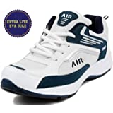 Ethics Men's White Grey Stylish Sports & Running Outdoor Shoes