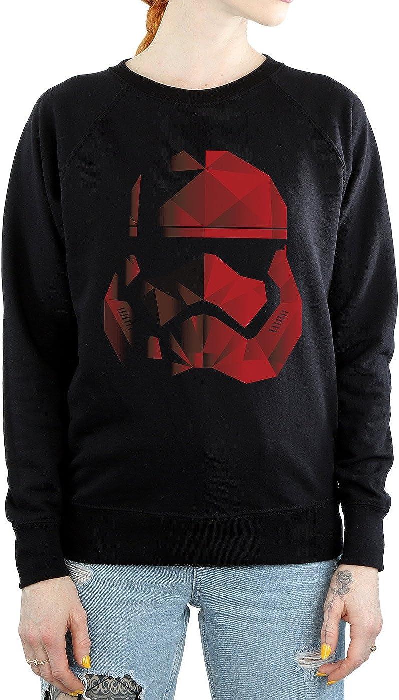 Star Wars Damen The Last Jedi Stormtrooper Red Cubist Helmet Sweatshirt Schwarz