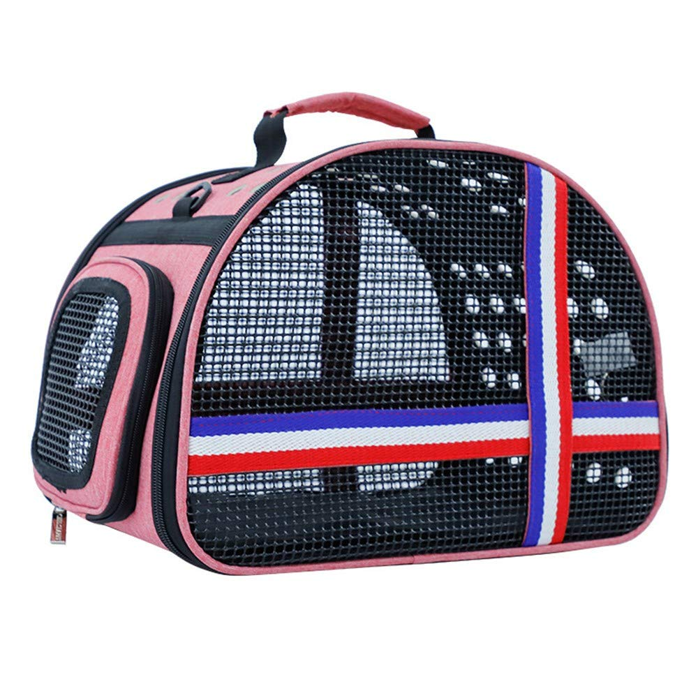 COOINS-CBXL Handbag shoulder breathable easy to carry out portable travel portable pet bag, 36 × 25 × 28cm, pink