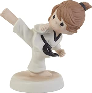 Precious Moments 202013 Kick Like A Girl Bisque Porcelain Figurine, One Size, Multicolored