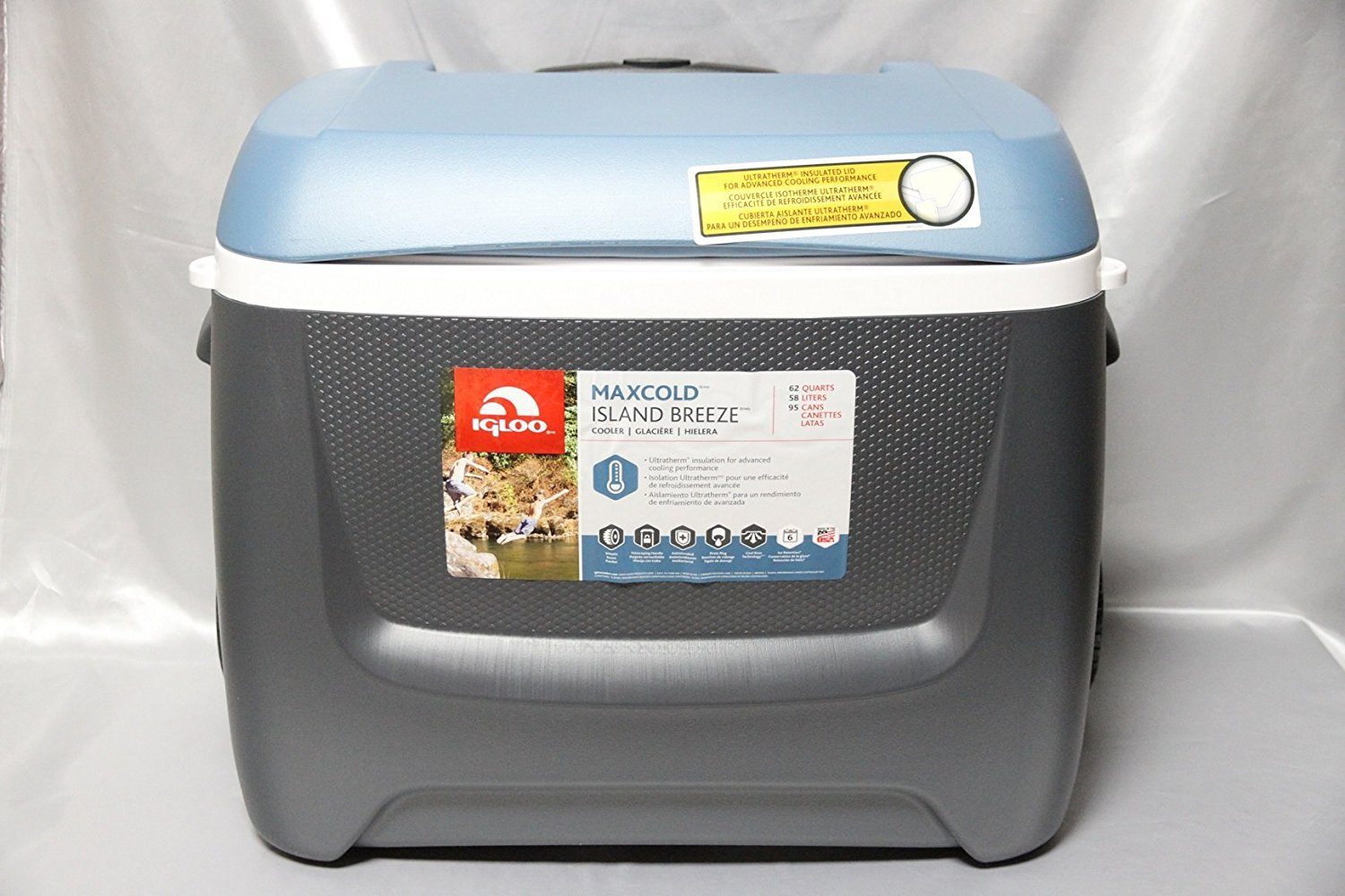 IGloo MaxCold Island Breeze 62 Quart Rolling Cool Box