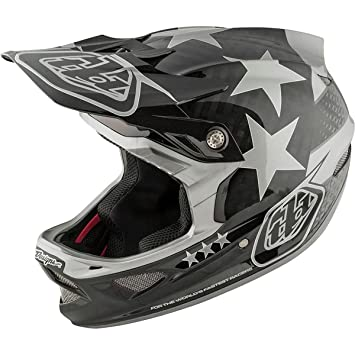 Troy Lee Designs D3 carbono casco BMX – libertad negro/gris