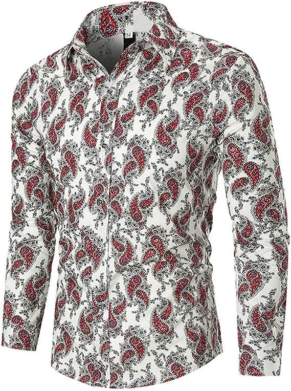 Popular. Blusa de impresión étnica para Hombres, Camisa de Manga Larga Estilo otoñal para Negocios, Ocio, Camisetas de Manga Larga, M ~ 3XL: Amazon.es: Ropa y accesorios