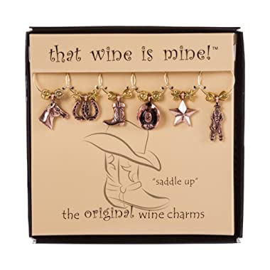 Wine Things 6-Piece Saddle Up Wine Charms