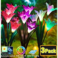Luces LED de Lirio 3PCS, Luces Solares Flores