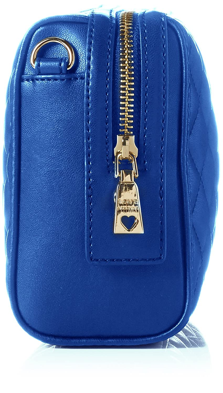 Borsa Quilted Nappa Pu Blu, Womens Shoulder Bag, Blue, 6x19x28 cm (B x H T) Love Moschino