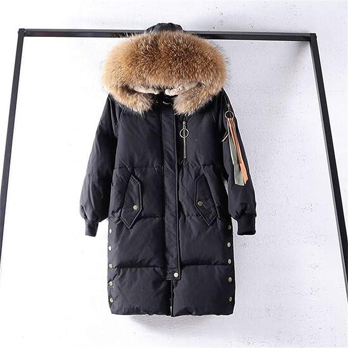Amazon.com: Chaqueta de invierno con capucha de piel de ...