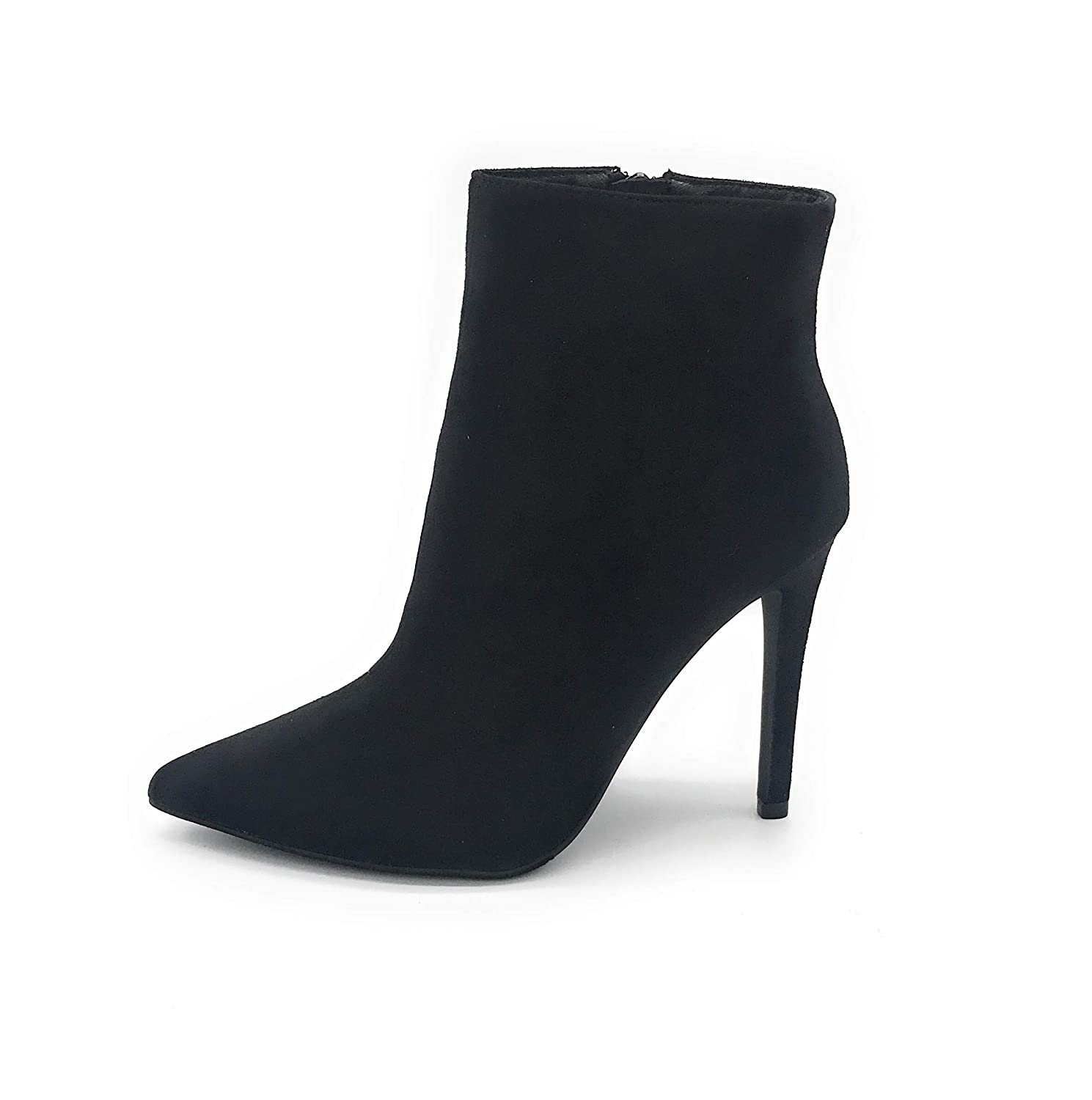 04black J Mark EASY21 Women Fashion Ankle Rhinestone Boots Casual Short Bootie shoes