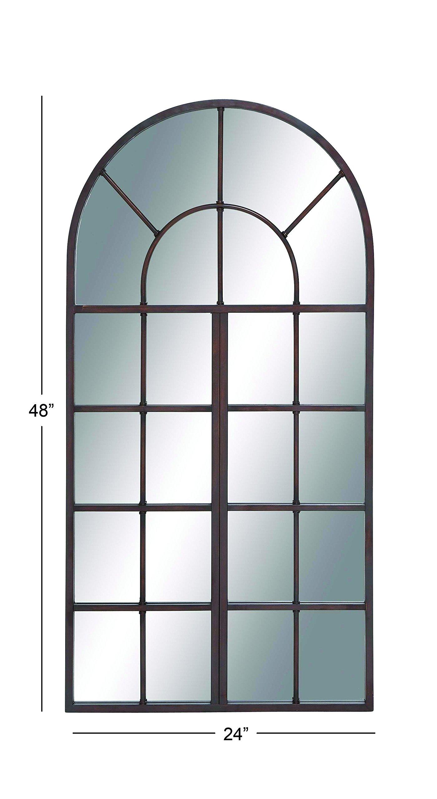 Deco 79 53224 Metal Wood Wall Mirror 24'' W, 48'' H