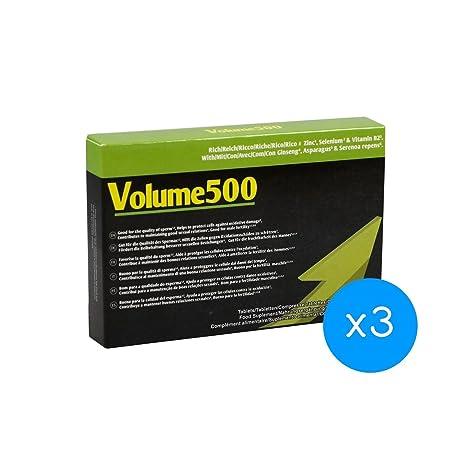 Aumento de esperma - 3 Volume500: Pastillas para aumentar la cantidad de esperma