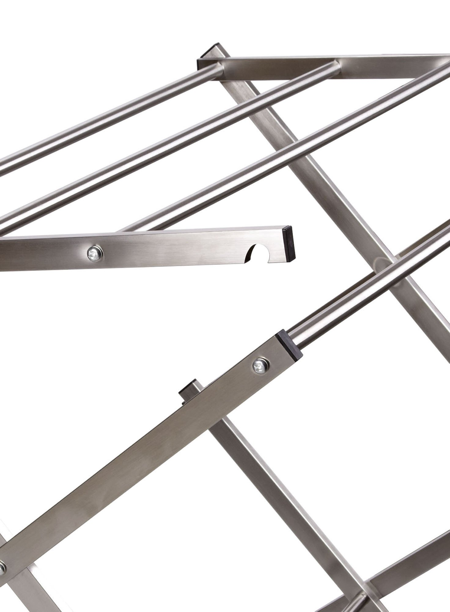 Household Essentials Folding X-Frame Clothes Dryer, Stainless Steel by Household Essentials (Image #3)