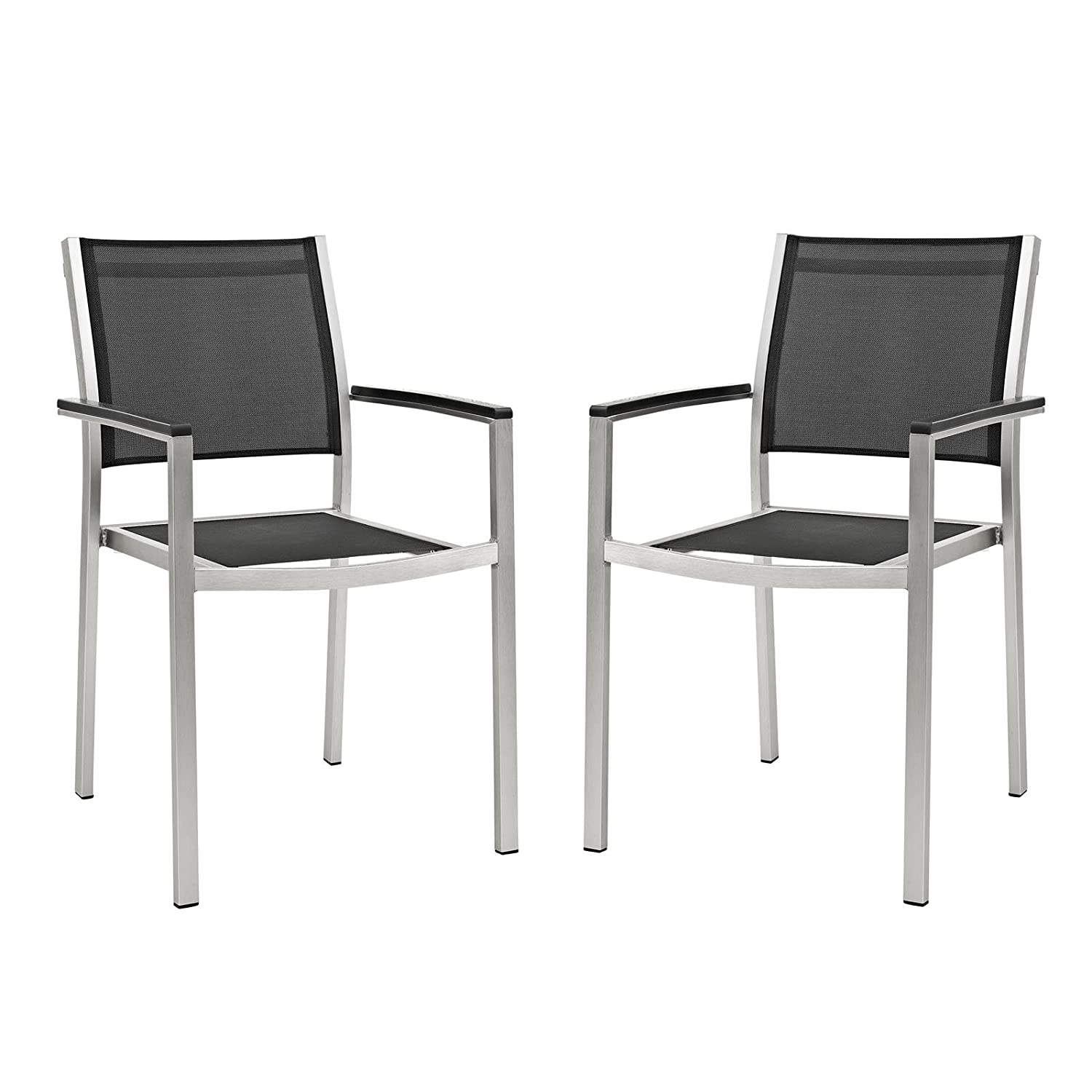 Amazon Modway Outdoor Patio Aluminum Shore Dining Chair Set