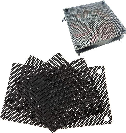 5Pcs 1212cm PC Computer PVC Fan Cover Dust-Proof Black ASHATA 120mm Fan Dust Filter Mesh Dust Filter Fan Filter PC Cooler Filter Black Dustproof Case Cover