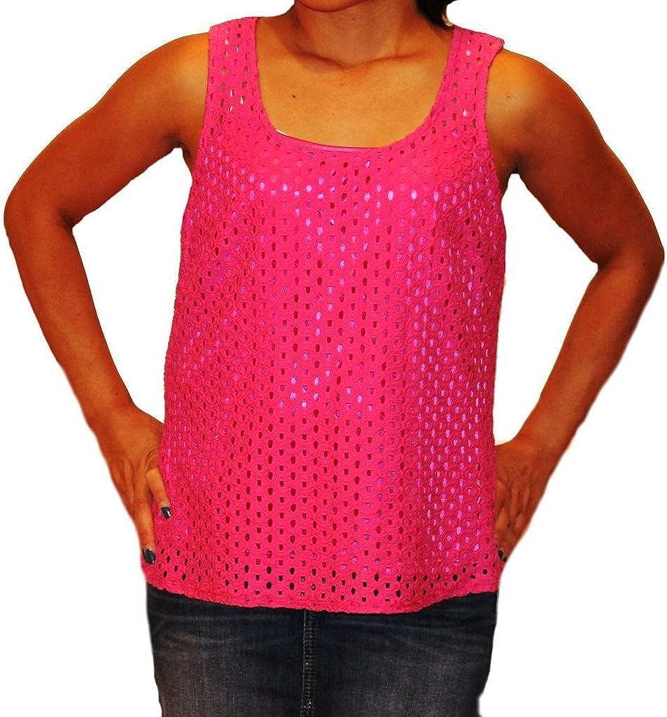Laundry by Shelli Segal Split Back Lace Sleeveless Top