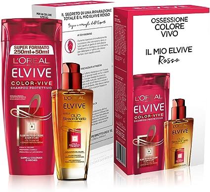 L Oréal Paris Elvive estuche Tratamiento pelo cabello teñido: Amazon.es: Belleza