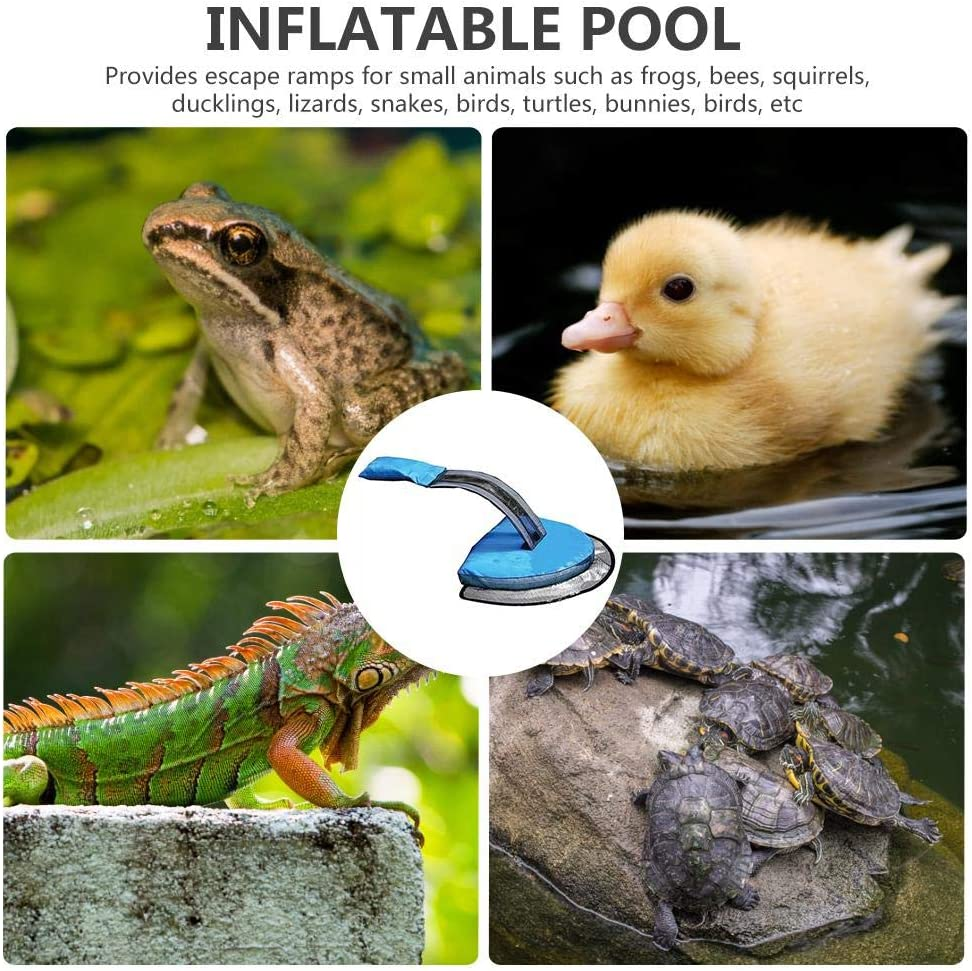 Critter Pool Escape Net,Inflatable Swimming Pool Animal Saving Escape Ramp,Critter Rescue Dog Pool Exit Net Ladder For Pools Easy Setup Animal Escape Device