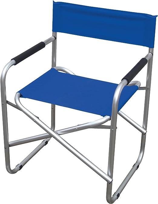 Sedia Regista Alluminio Offerte.Sedia Regista In Alluminio E Pvc 600d Colore Blu Amazon It