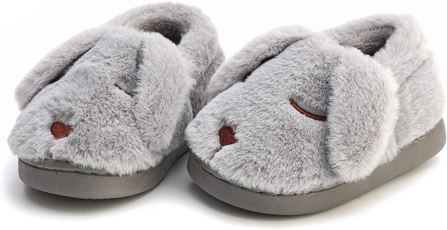 MEMON Baby Boys Fuzzy Slippers   Cute Baby Girls Slippers   Infant Non-Slip Indoor Shoes   Kids Home Shoes