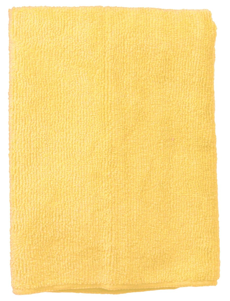 Wilen E831016, Supremo Microfiber Cloth, 16'' Length x 16'' Width, Yellow, Bulk Pack (Case of 180)