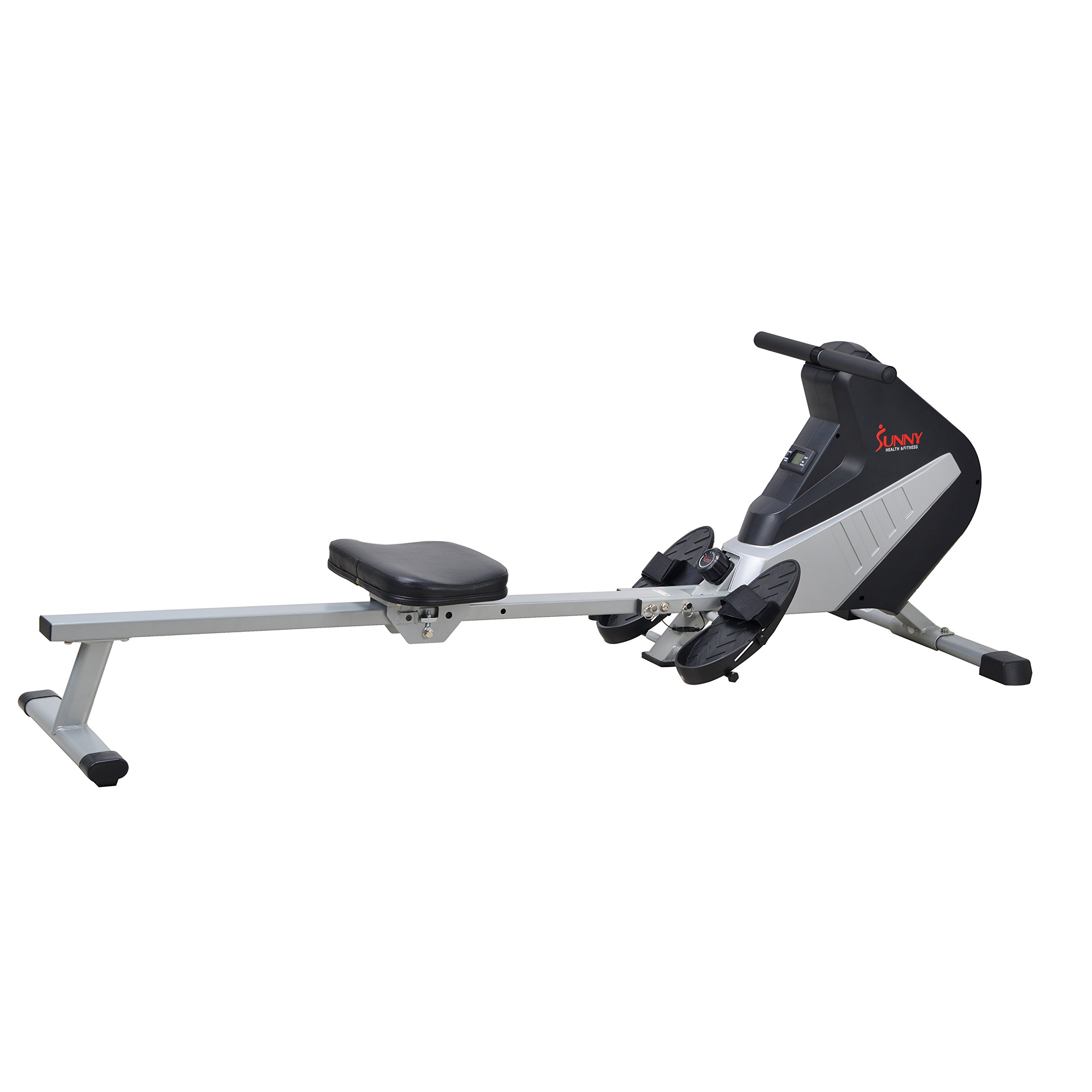 Sunny Health & Fitness SF-RW5634 Magnetic Rowing Machine Rower w/ LCD Monitor