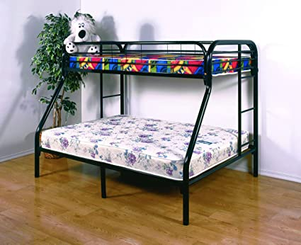 Amazon Com Maryanne Twin Over Full Kids Bunk Bed Black Sturdy Metal
