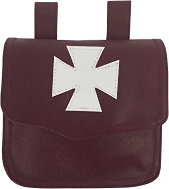 Masonic Regalia Knight Templar Alms Brown Bag MC048