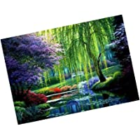 HOMYL Full Drill 5D DIY Diamond Painting Kit Forest Embroidery Cross-Stitch Arts Crafts Gift 40x30cm