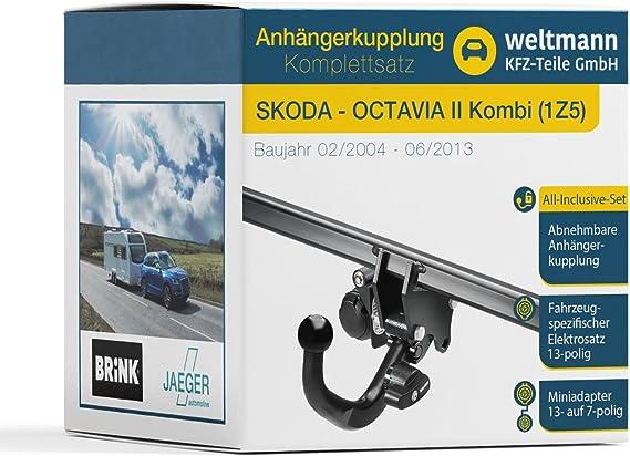 Weltmann 7d220007 Geeignet Für Octavia Ii Kombi 1z5 Abnehmbare Anhängerkupplung Inkl Fahrzeugspezifischem 13 Poligen Elektrosatz Auto