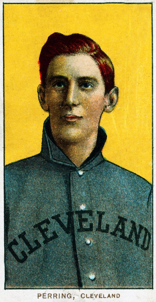 Cleveland Naps – ジョージPerring – 野球カード( 16 x 24 Gicleeギャラリー、壁用旅行ポスター) B017ZEWC8Q