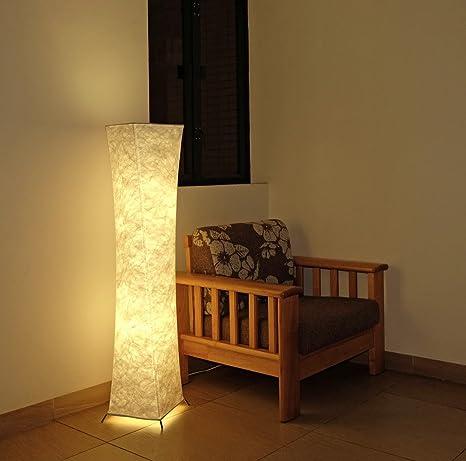 Gimify Lámpara de Pie Moderna Bombilla LED incluida para la Decoración de la Sala de Estar 26x26x132cm (Blanco cálido)