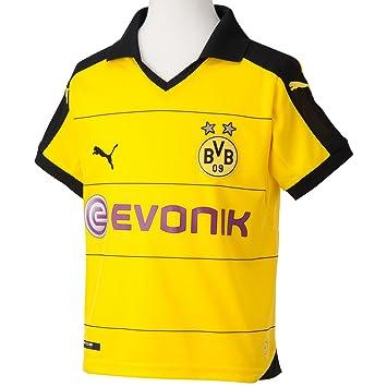 Puma BVB Home Replica Shirt with Sponsor - Camiseta/Camisa Deportiva para Hombre: Amazon.es: Deportes y aire libre