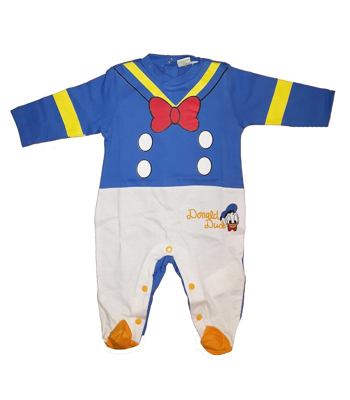 tutina neonato con piedino puro cotone PAPERINO-DALMATA disney art. WD101075 mare)