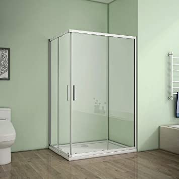 Cabina de ducha esquina. Mampara de ducha puerta corredera ducha ...