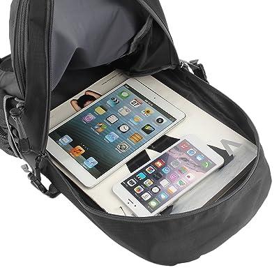 Alpinisme 40L sac à bandoulière en nylon de l'eau unisexe voyage randonnée sac à dos (couleur: noir) (taille: 40L)