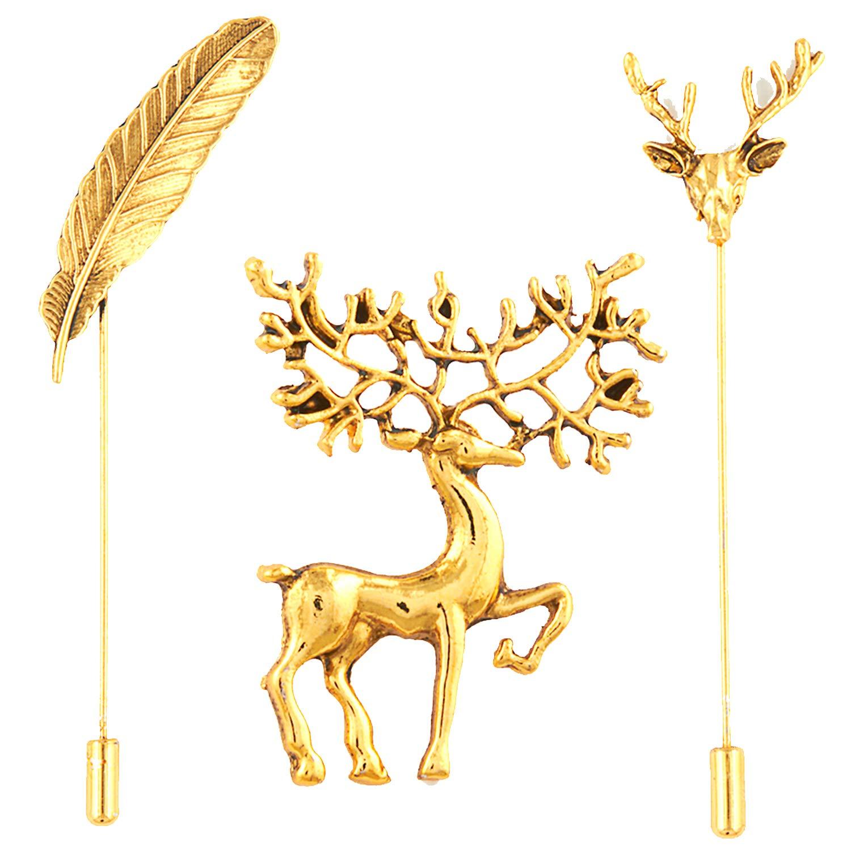 Mahi Valantine Gift Combo of Gold Plated Shirt Stud/Brooch
