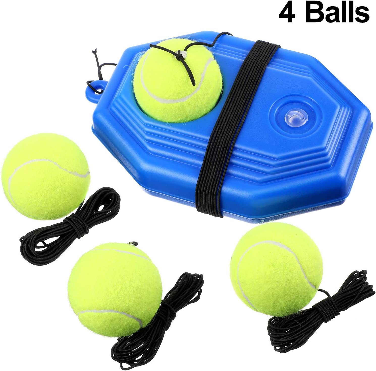 Gejoy 5 Pieces Tennis Training Equipment Tennis Trainer Rebounder Ball Trainer Set with String for Kids Youth Beginner Practice at Home : Sports & Outdoors