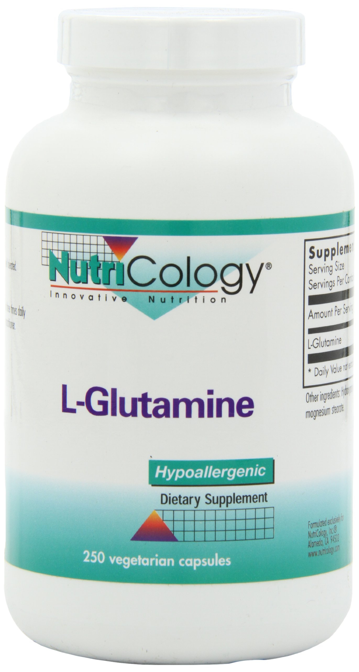 Nutricology L-glutamine, 800 Mg, Vegicaps, 250-Count