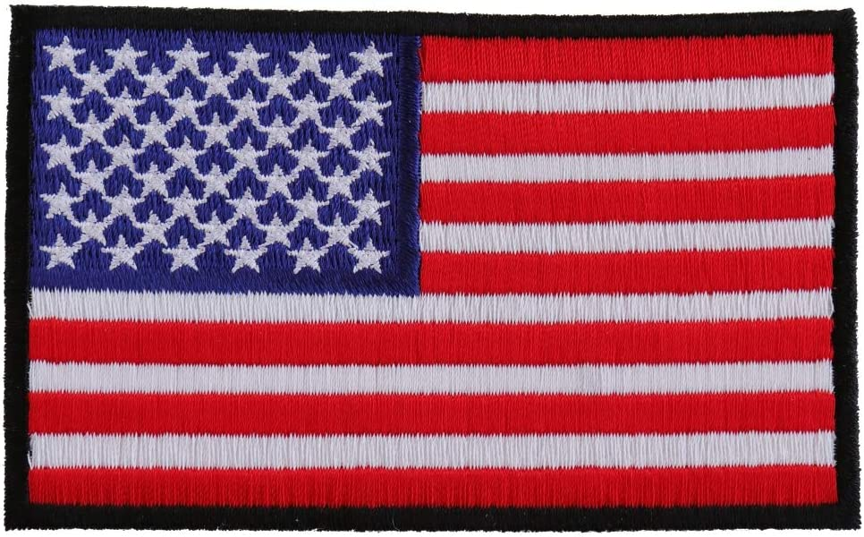 Hook Patch American Flag Embroidered Iron on