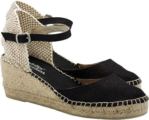 2 Espadrilles - Alpargatas Sandalias Mujer Fabricadas a Mano en España Espadrilles Esparto Zapato para Mujer Tacón Ana: Amazon.es: Zapatos y complementos