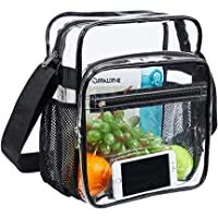 Covax Clear Bag Stadium Approved, Clear Crossbody Messenger Shoulder Bag with Adjustable Strap for Concert, PGA, NCAA…