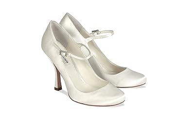 Benjamin Adams Minnie Ivory Wedding Shoes Size 8 Amazon Co Uk