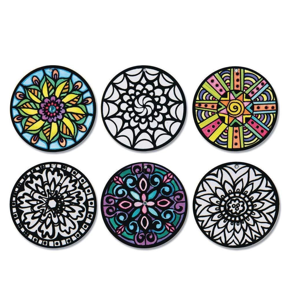 Velvet Art Hangable Mini Mandalas (Pack of 24) by S&S Worldwide