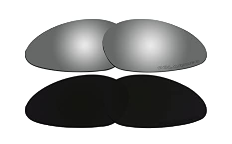 af614a0213 Image Unavailable. Image not available for. Color  2 Pairs Replacement  Lenses Polarized Black   Black Mirror for Oakley Minute 1.0 Sunglasses