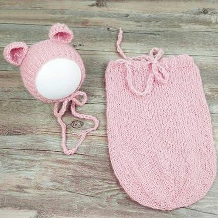 Merssavo Color 5 Accesorios de Fotografía para Recién Nacidos Traje de Disfraz para Bebés Punto de