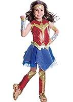 Girls Wonder Woman Costume And Wig Set