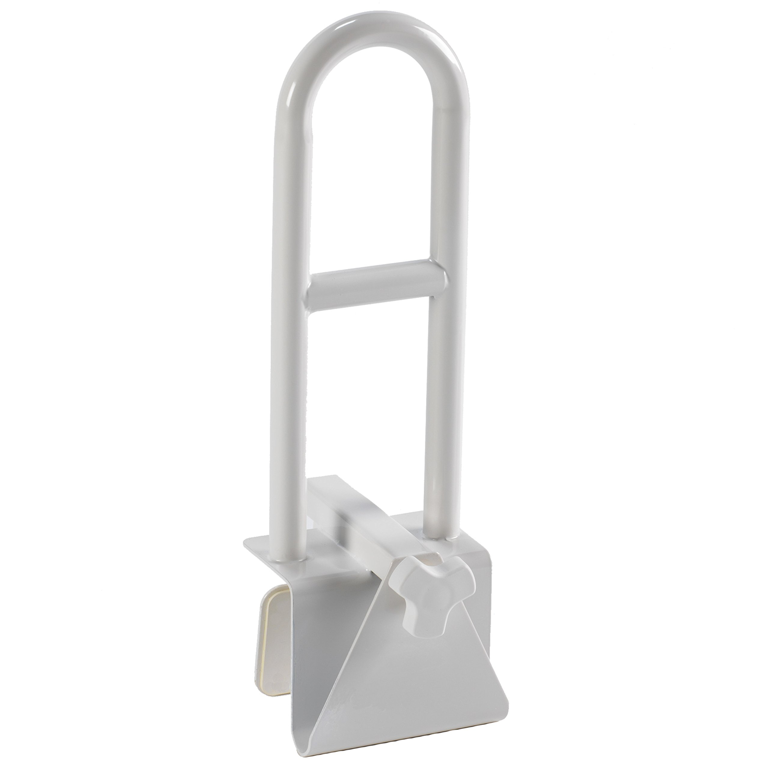 PCP Clamp-On Tub Safety Rail with Grip Stability Aid, White