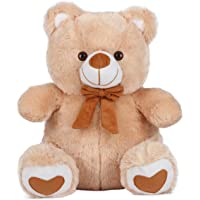 Ultra Spongy Teddy Bear Soft Toy Gifts, Camel Brown (15-inch)