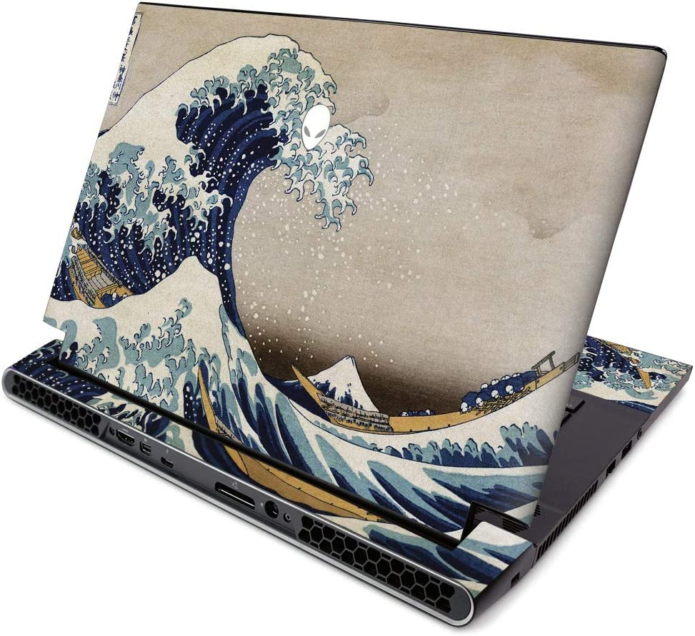 MightySkins Skin for Alienware M15 R2 (2019) - Great Wave of Kanagawa | Protective, Durable, and Unique Vinyl Decal Wrap Cover | Easy to Apply, Remove, and Change Styles | Made in The USA