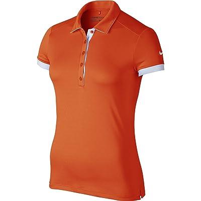 Nike Golf Women's Victory Colorblock Polo (Team Orange/White) M