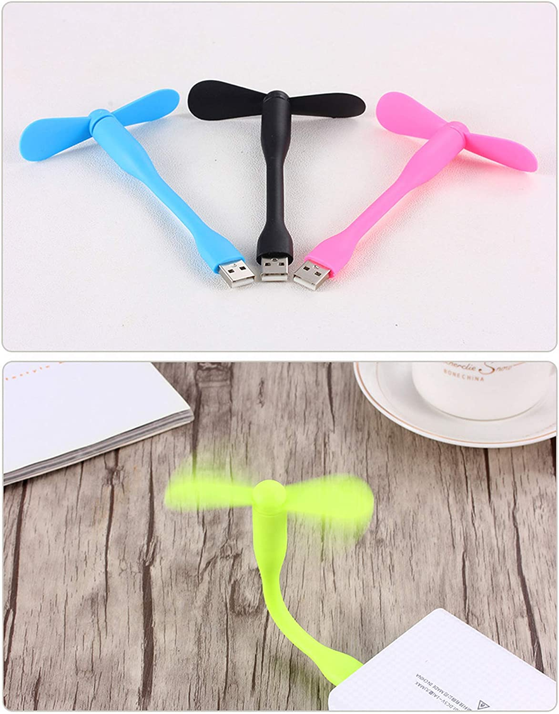 USB Fan for Micro USB Travel Portable Flexible Fan Cooler USB Output USB for Laptop Summer Fan,Short Micro Fan